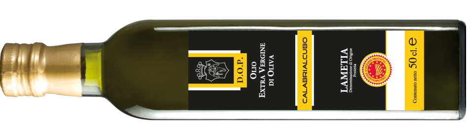 (Italiano) Bottiglia Olio DOP orizontale