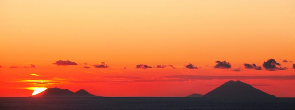 Isole Eolie al tramonto…
