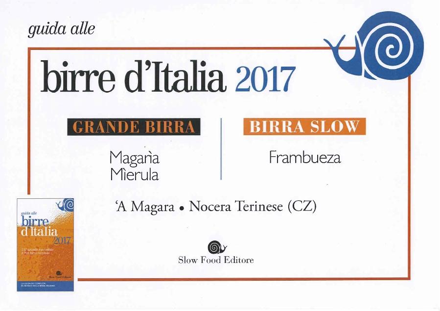 (Italiano) IL BIRRIFICIO 'A MAGARA PLURIPREMIATO ANCHE NEL 2016